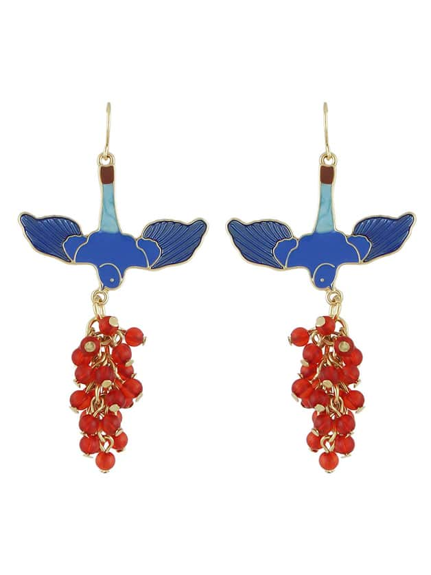Red Color  Bird Shape  Long EarringsRed Color  Bird Shape  Long Earrings<br><br>color: Red<br>size: None