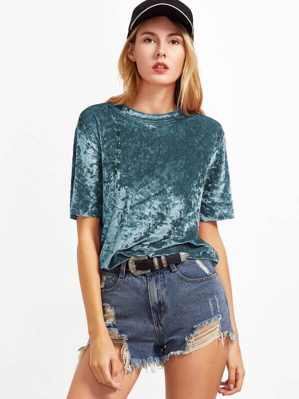 Crushed Velvet T-shirt, Yana