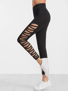 Side Ladder Cutout High Waist Leggings