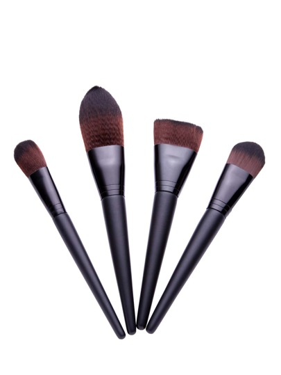 Black Makeup Brush Set 4 pcs
