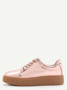Zapatillas deportivas de charol - dorado rosa