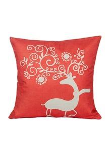Funda de almohada con estampado - rojo
