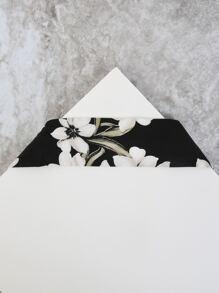 Wide Floral Sash Choker BLACK