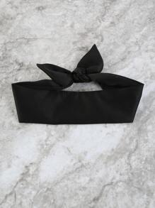 Silky Tie Choker Necklace BLACK