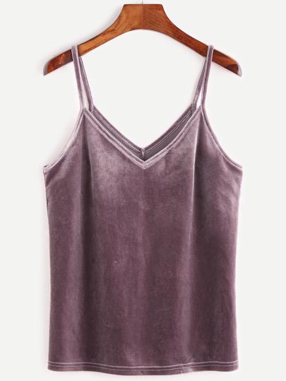 Top velours -violet