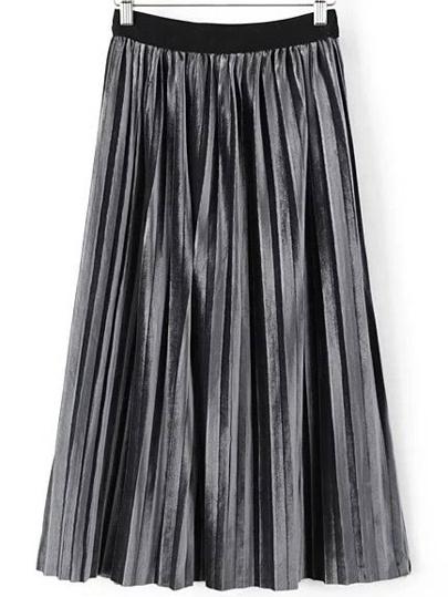 Бархатная серая юбка
