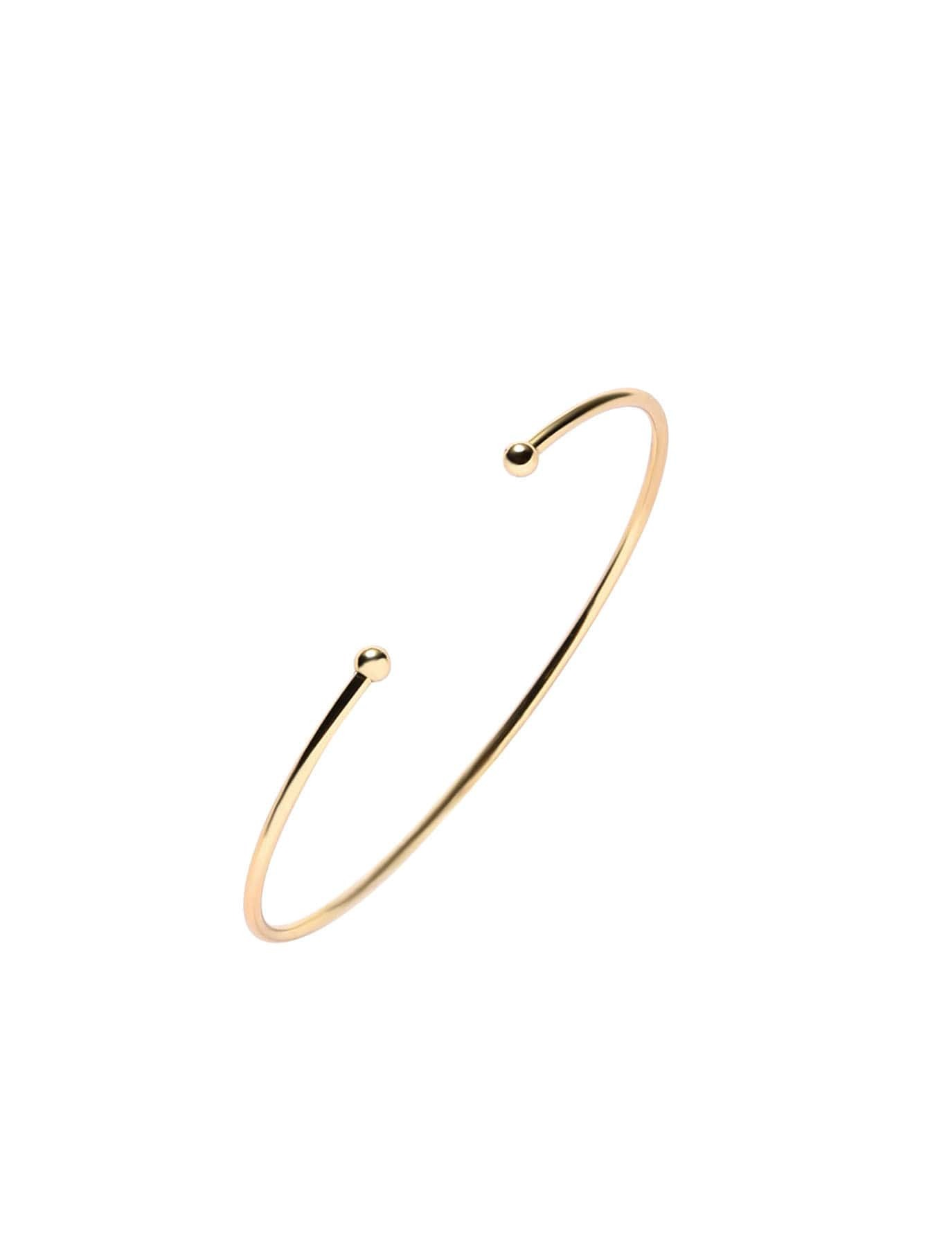 Buy Gold Plated Metal Smooth Design Wrap Bangle