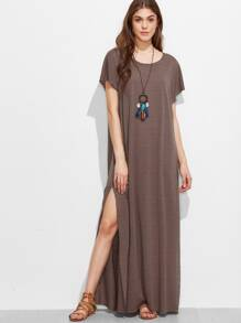 Split Side Full Length Dress