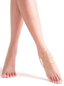 Cadena pie set -dorado