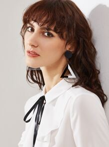 Black Triangle Shape Simple Earrings