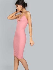 Bodycon Strappy Dress PINK