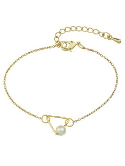 New Gold Design Pearl Chain Link Bracelets