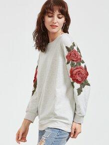 Chandail à bretelles brodées Rose