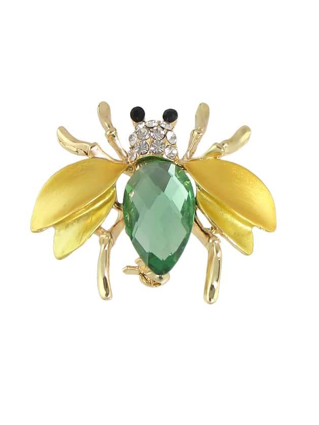 Фото Gold Color Rhinestone Bee Shape Big Brooches. Купить с доставкой