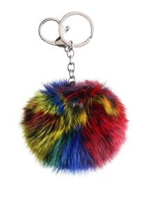 Portachiavi Pom Pom - Multicolore