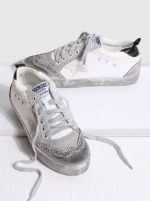 Round Toe Lace-up Star Sneakers