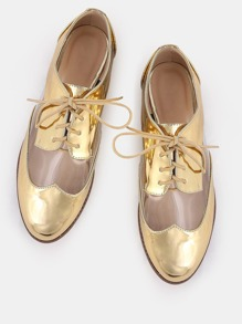 Metallic Lined Transparent Oxfords GOLD