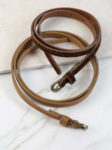 Skinny Leopard Belt Duo Set BROWN