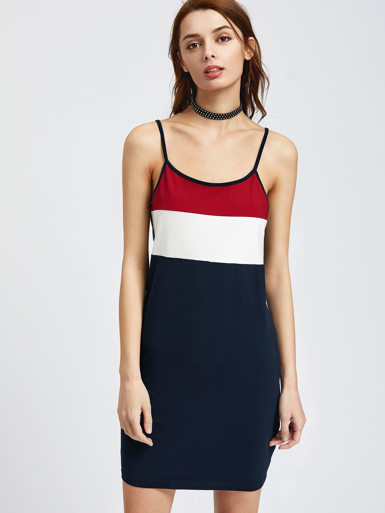 Фото Color Block Cami Dress. Купить с доставкой