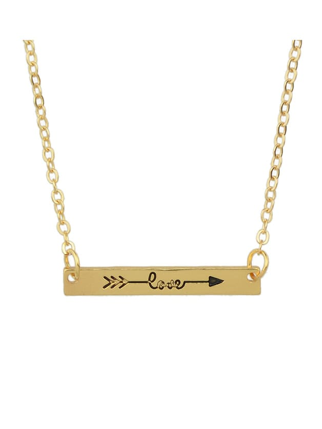 Фото Gold Color Love Letters Metal Pendant Necklaces. Купить с доставкой