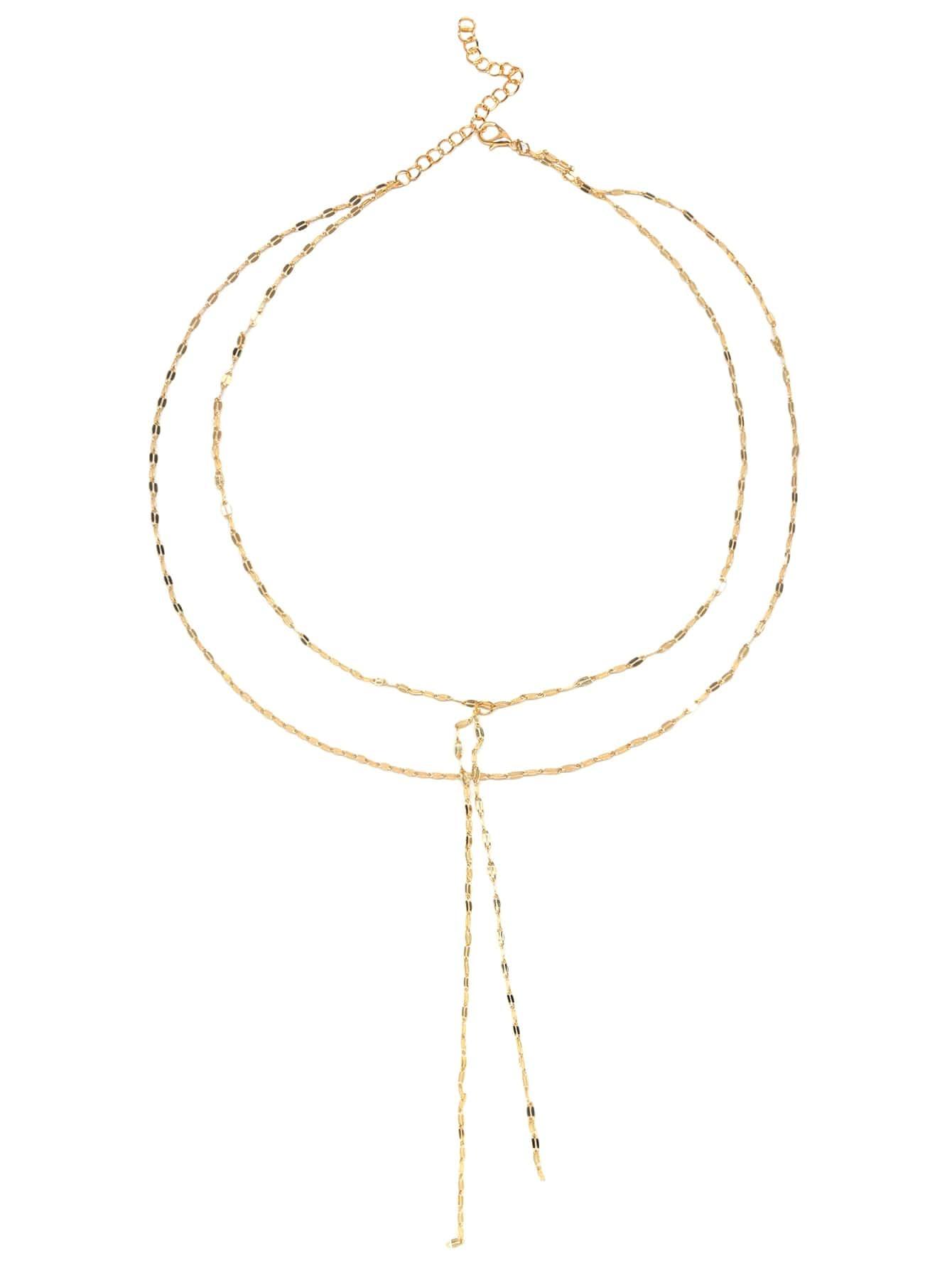 Фото Gold Plated Layered Y Necklace. Купить с доставкой