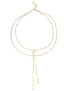 Gold Plated Layered Y Necklace