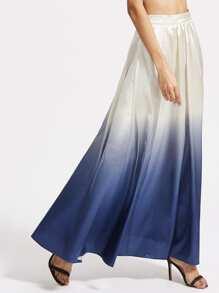 Falda ombré con cremallera lateral - azul