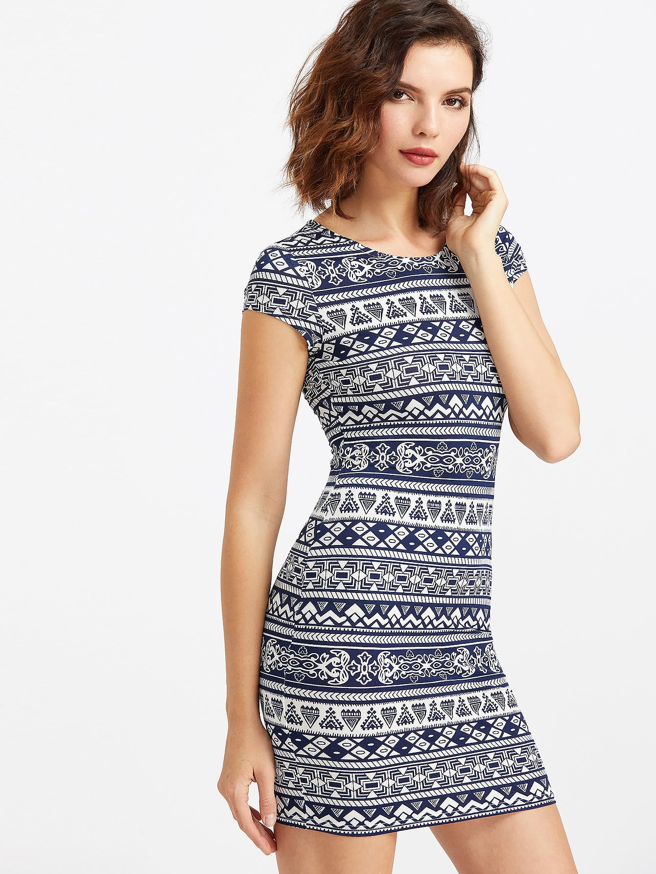 Фото Aztec Print Form Fitting Dress. Купить с доставкой