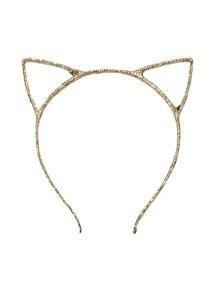 Diadema con orejas de gato - dorado