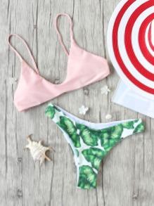 Sexy Bikini Stampa Foglia