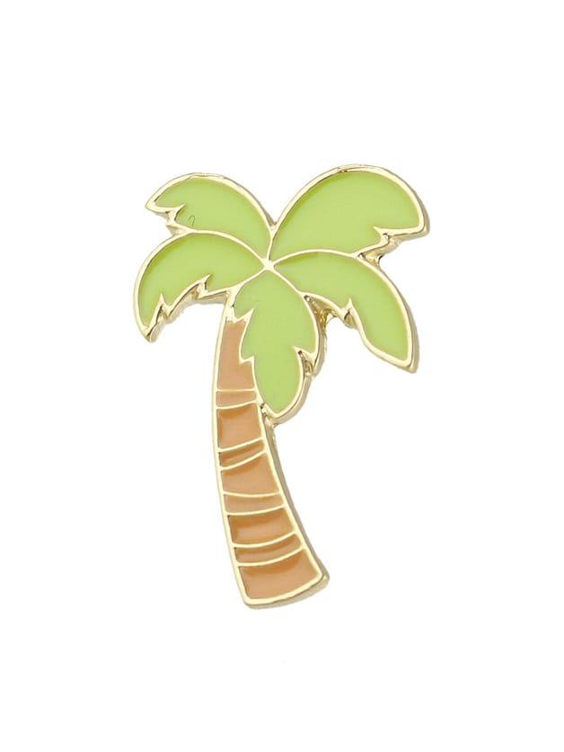 Фото Cute Enamel Carton Green Tree Shape Brooches. Купить с доставкой