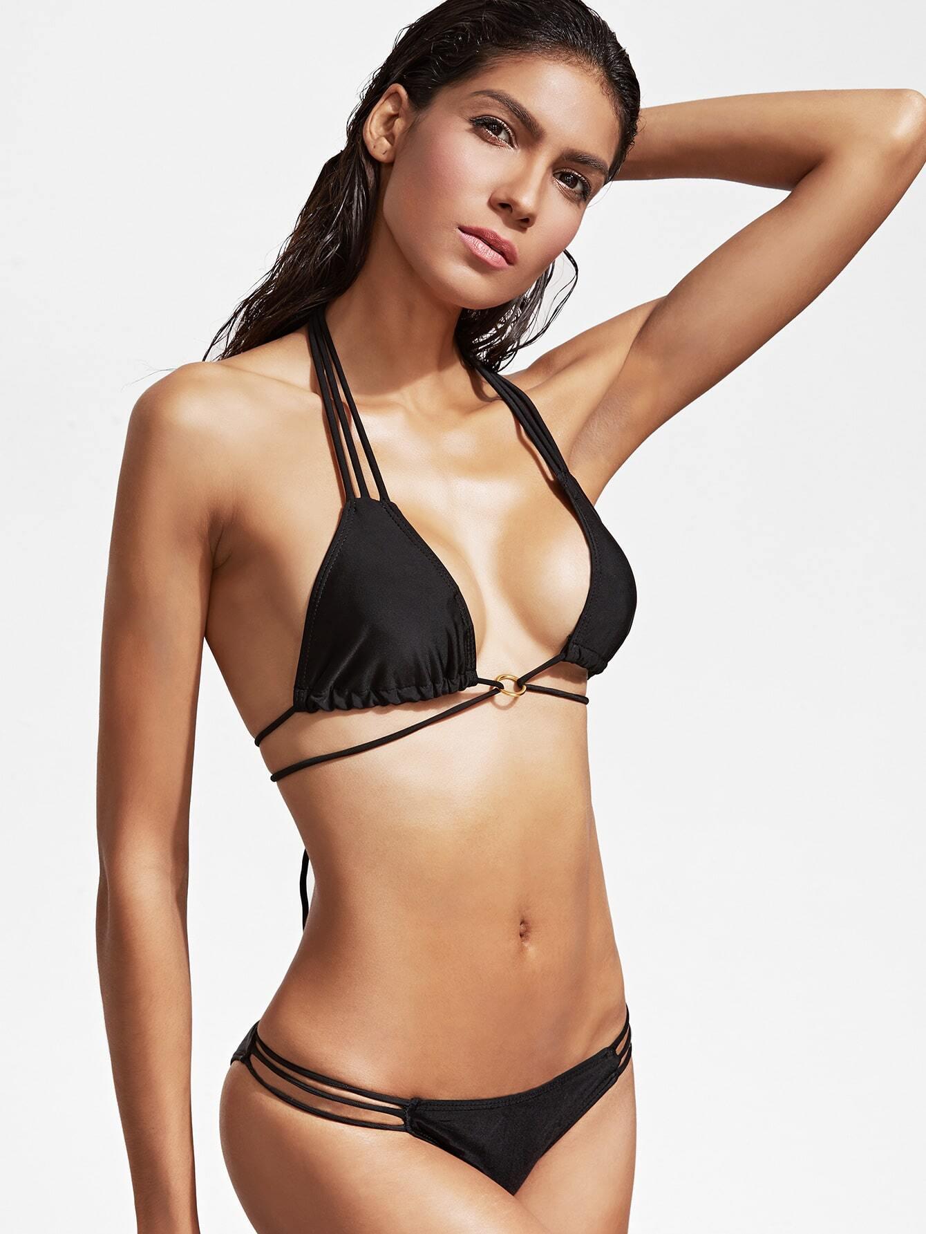 Mature! Bikini french satin