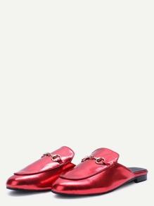 Loafer de cuero sintético - rojo