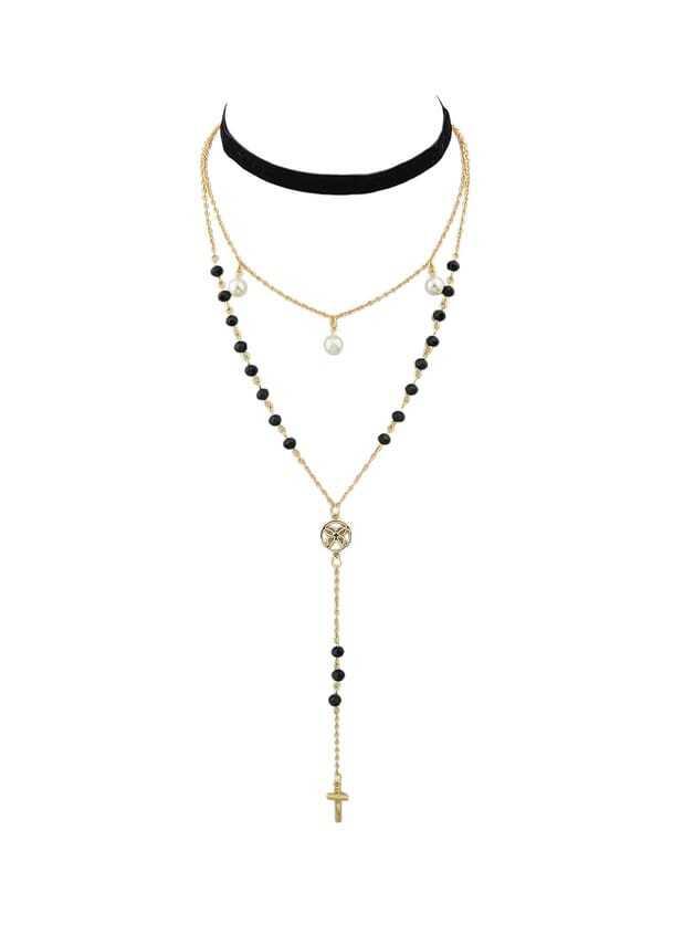 Gold Color Hip Hop  Choker Necklaces