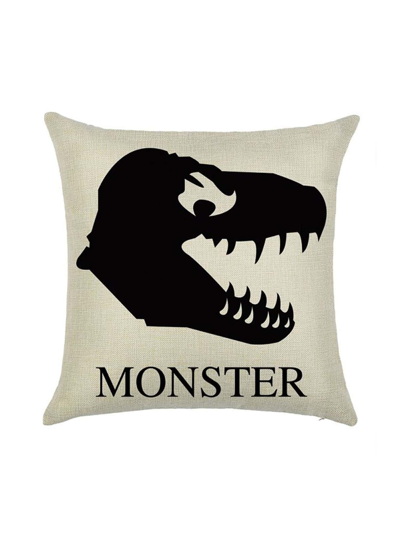 Фото Apricot Monster Print Pillowcase Cover. Купить с доставкой