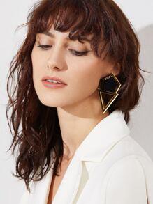 Gold Geo Shaped Stud Earrings