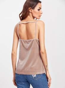 Lace Insert Strap Back Cami Top pictures