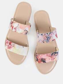 Duo Strap Floral Sandals BLUSH MULTI