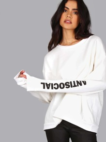 Anti Social Sweatshirt WHITE