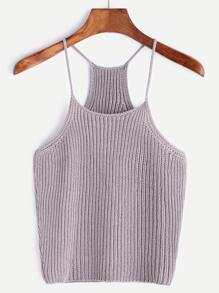 Racerback Ribbed Knit Cami Top