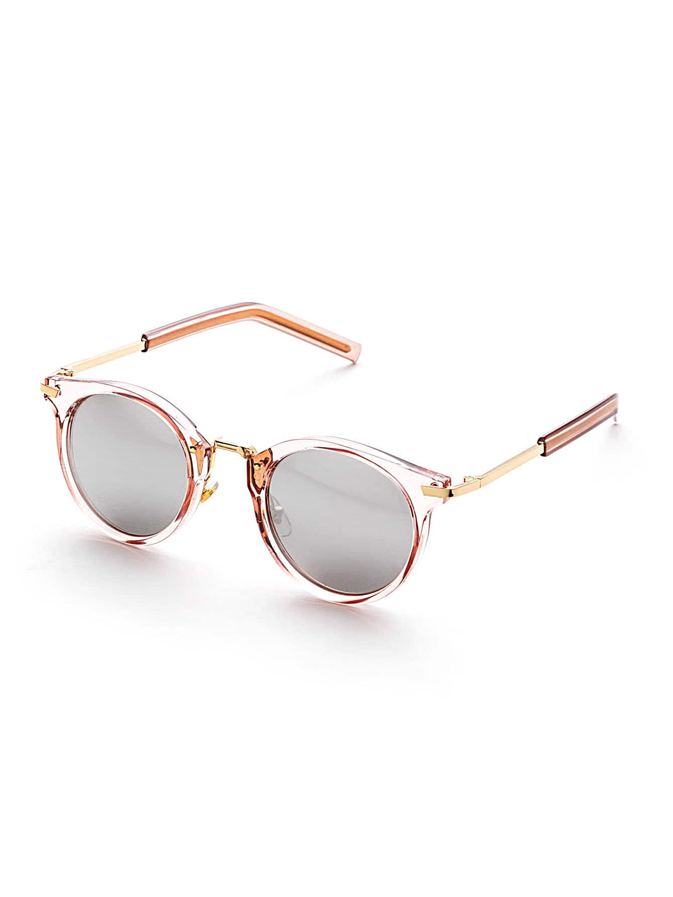 clear frame flat lens round sunglasses sunglass170228301_1 sunglass170228301_1 sunglass170228301_2 sunglass170228301_2