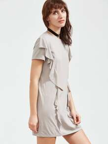 Frill Detail Tee Dress