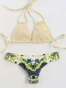 Floral Print Mix & Match Sexy Bikini Set