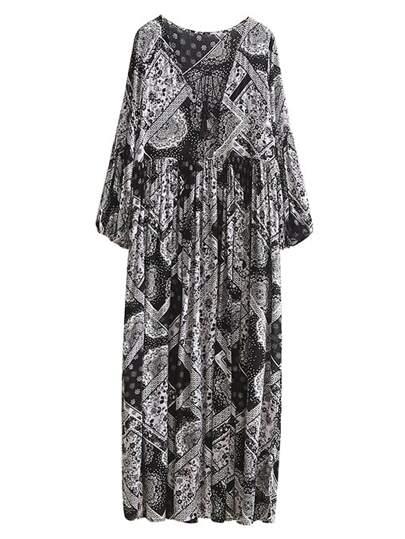 une robe plissée imprimé tribal dentelle