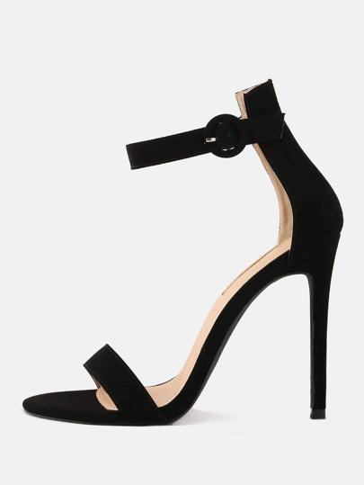 Stiletto Open Toe High Heels BLACK