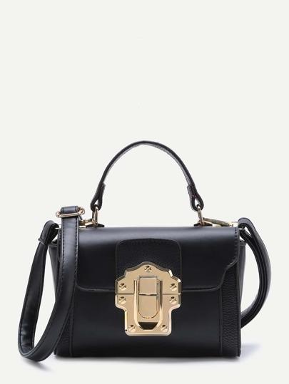 Black Delicate PU Shoulder Bag
