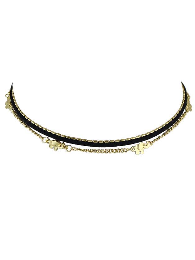 (3 pcs/Set) Punk Rock Thin Chain Choker Necklaces