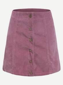 Une jupe en ligne avec des boutons - rose