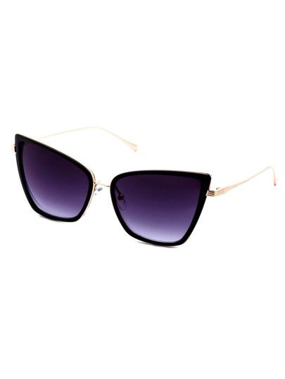 schwarz und gold rahmen katze auge sonnenbrille