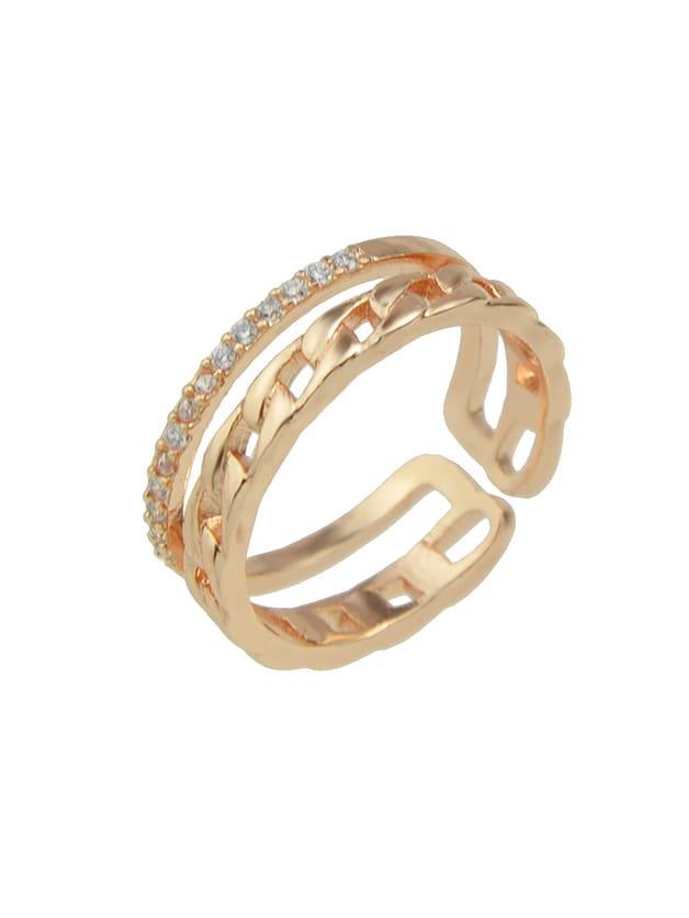 Фото Rosegold ColorRhinestone Cluster Wide Cuff Finger Rings. Купить с доставкой